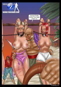 Ilha de mulheres escravas