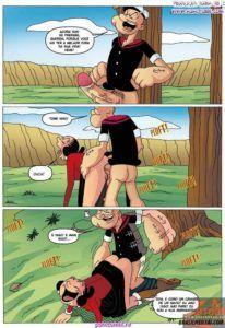 Popeye trepando com Olivia palito
