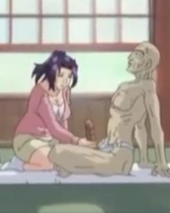 Nora masturbando o sogro de pau enorme