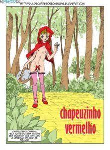 Chapeuzinho vermelho travesti e o lobo mau fodendo