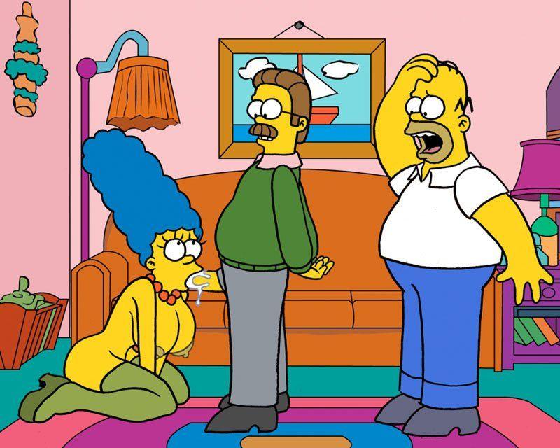 Simpsons sexo - Magge traindo home