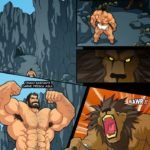 Hércules – Transa com leão de Neméia