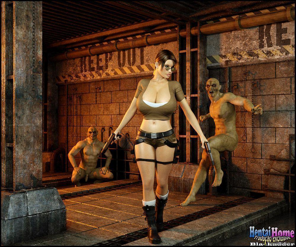 Lara croft na tumba Zumbi