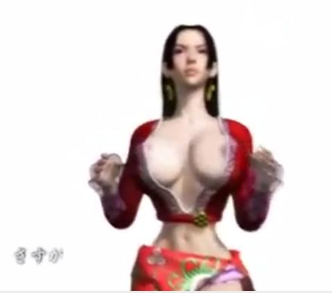 Garota pirata de One piece amarrada em hentai 3D