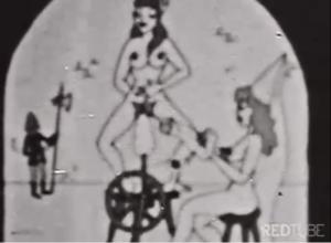 Sacanagem em desenho porno em preto e branco
