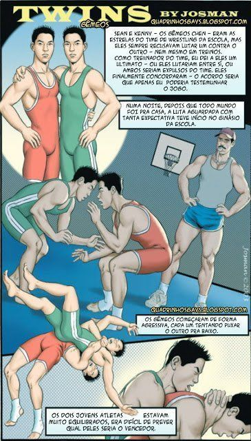 Os gêmeos boqueteiros – Hentai Gay