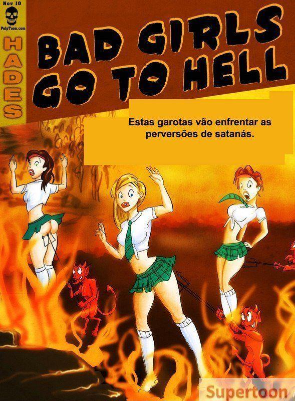 Meninas malvadas vão pra o inferno – Quadrinhos Porno