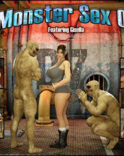 Monstros comendo Gisella 3D
