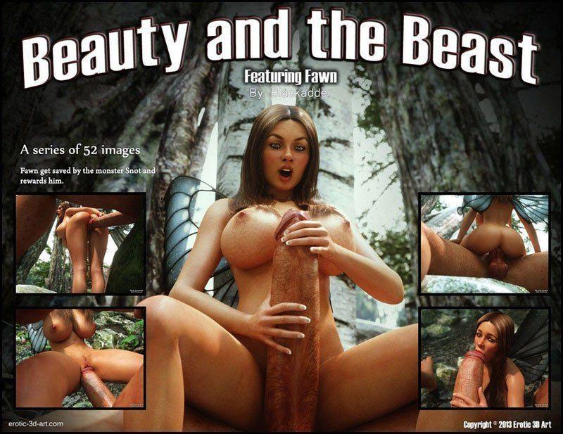 A bela e a fera 3D pornô