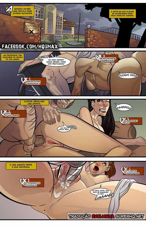 X-Men - Putaria na escola de Xavier (3)