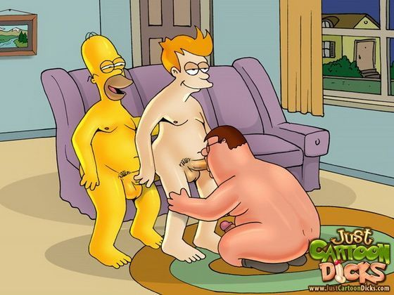 Cartoon gay dos Simpsons