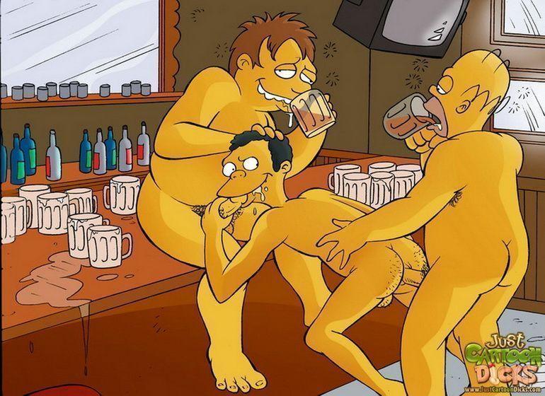 Cartoon-gay-dos-Simpsons-9