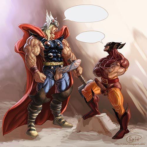Heróis gay pau grande