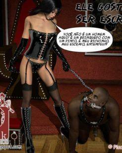 Ele adora ser escravo sexual