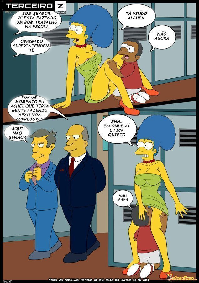 Marge-e-o-garanhão-da-escola-OS-Simpsons-XXX-9