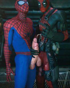 Deadpool transa com Homem-Aranha