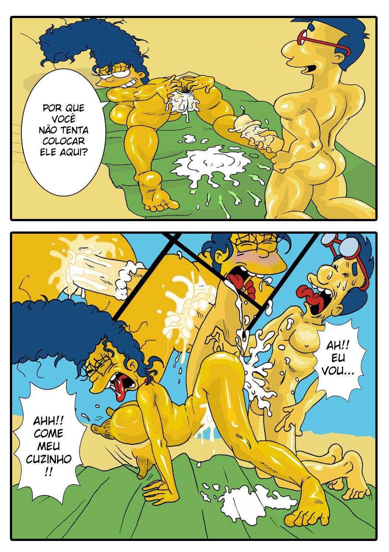 Marge-Simpson-na-praia-transa-com-Milhouse-4
