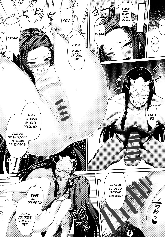 Demônios estupram à inocente Nezuko