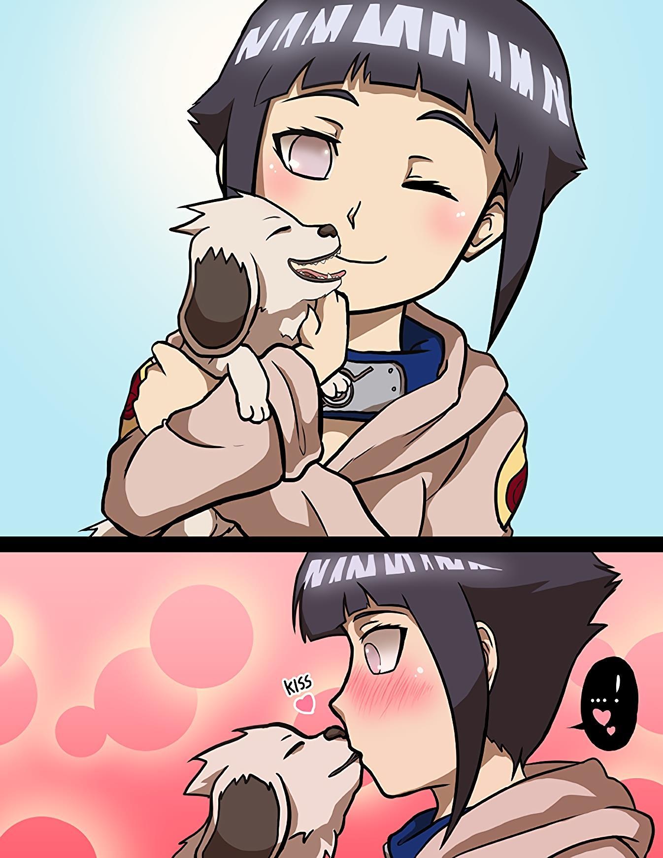 Hinata à cadela de Akamaru