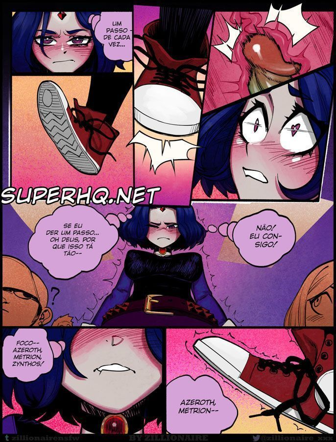 Jovens Titans Hentai – Ravena no pau de Butano