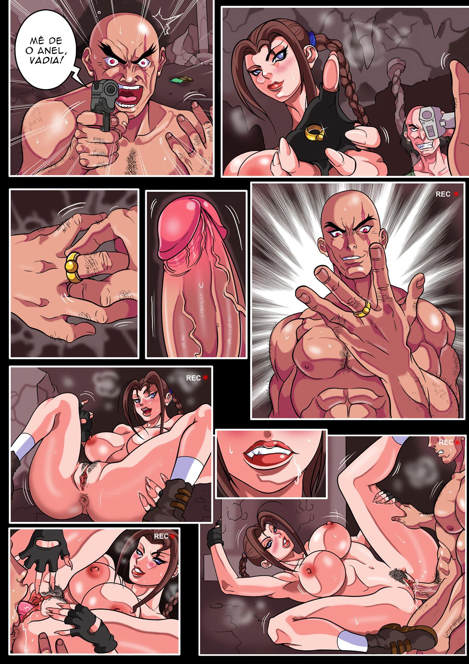 Tomb Raider Pornô – Lara à procura do anel peniano