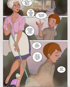 Billy e a vovó transa em quadrinhos de incesto