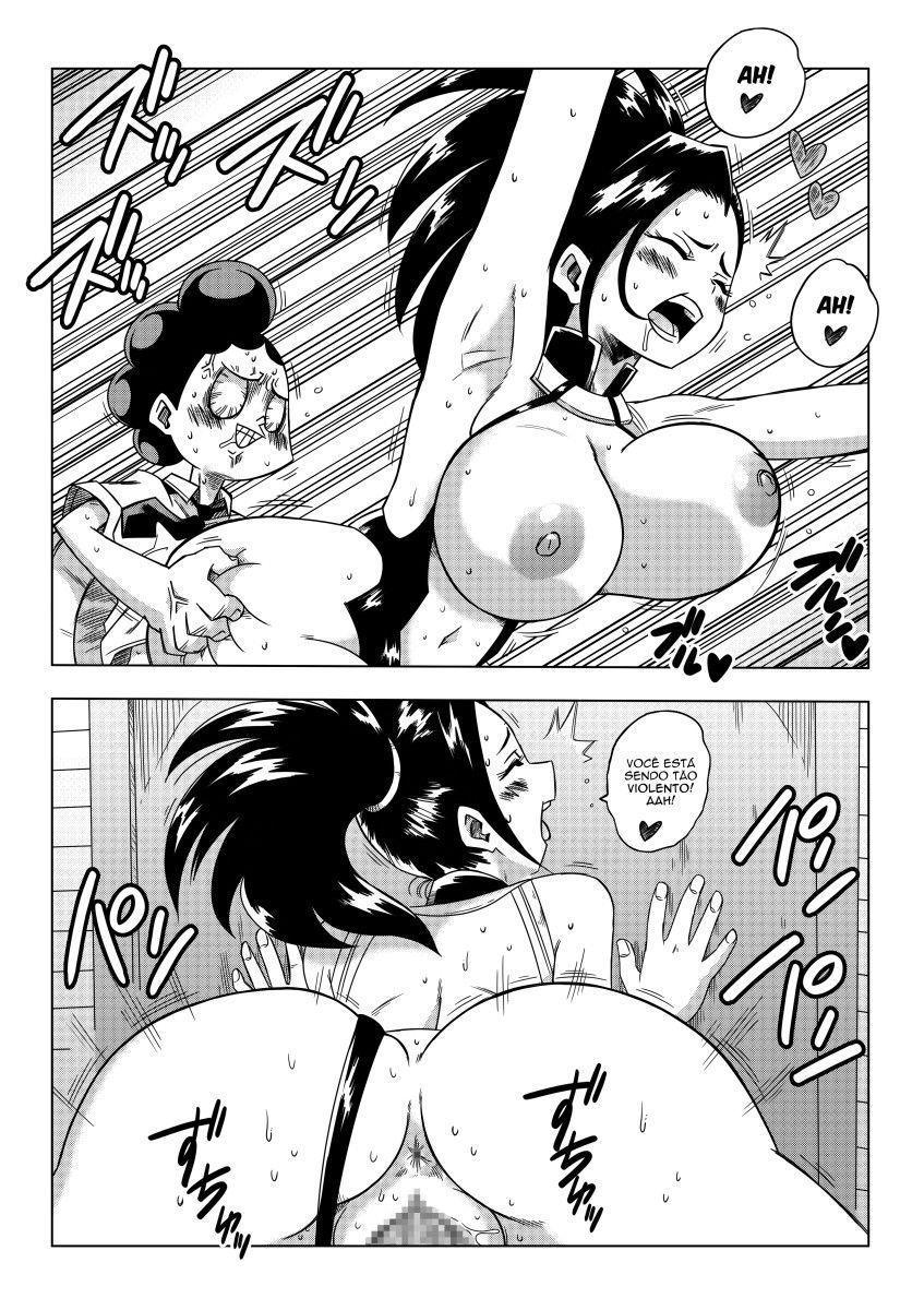 Momo Yaoyorozu uma escrava de Mineta