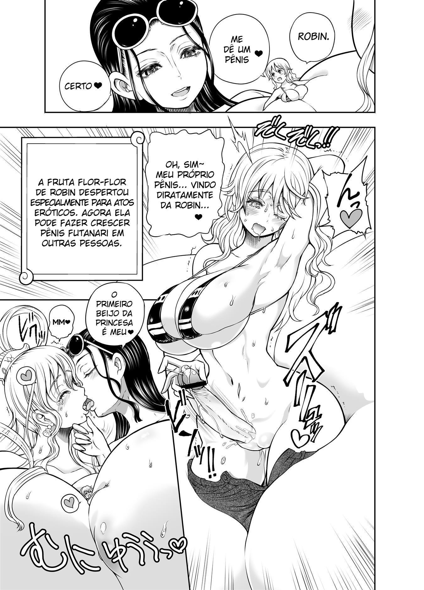 Deflorando à virgindade da princesa sereia Shirahoshi