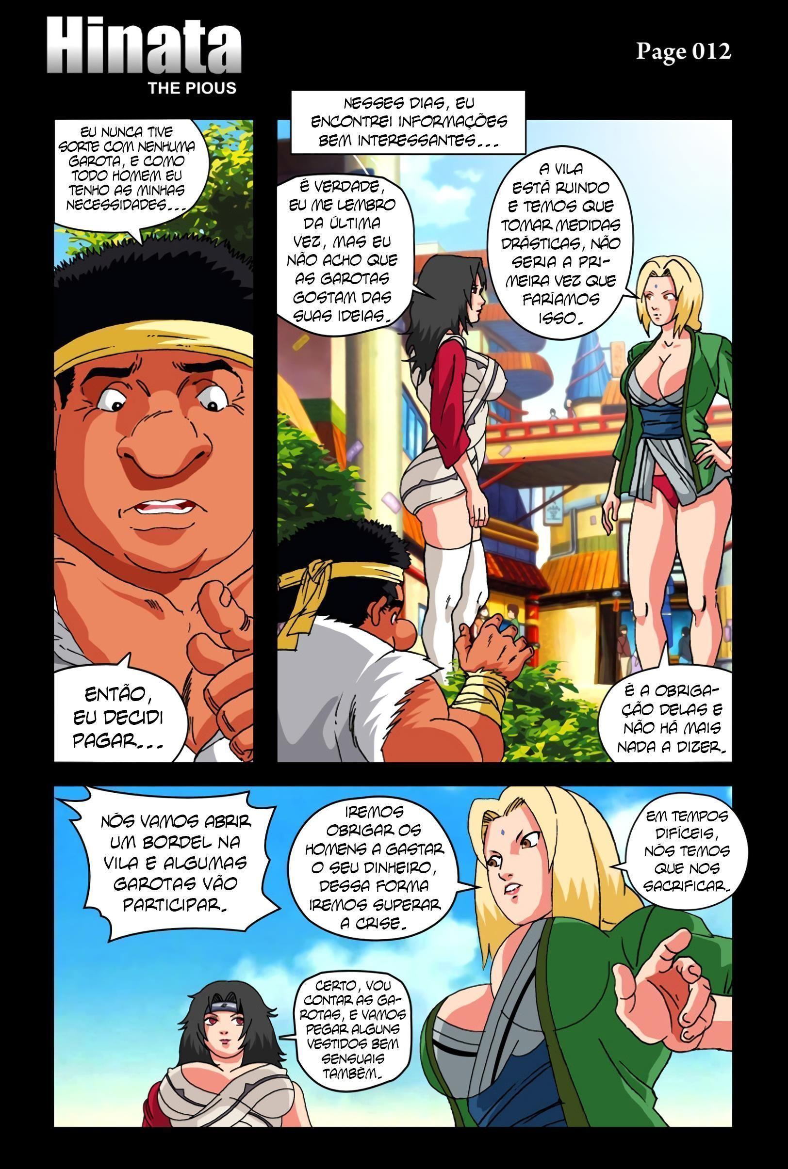 Naruto Pornô: Hinata à piedosa