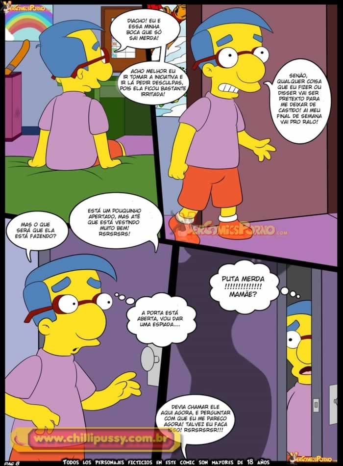Simpsons Incesto: Milhouse ganha aula de sexo da mamãe