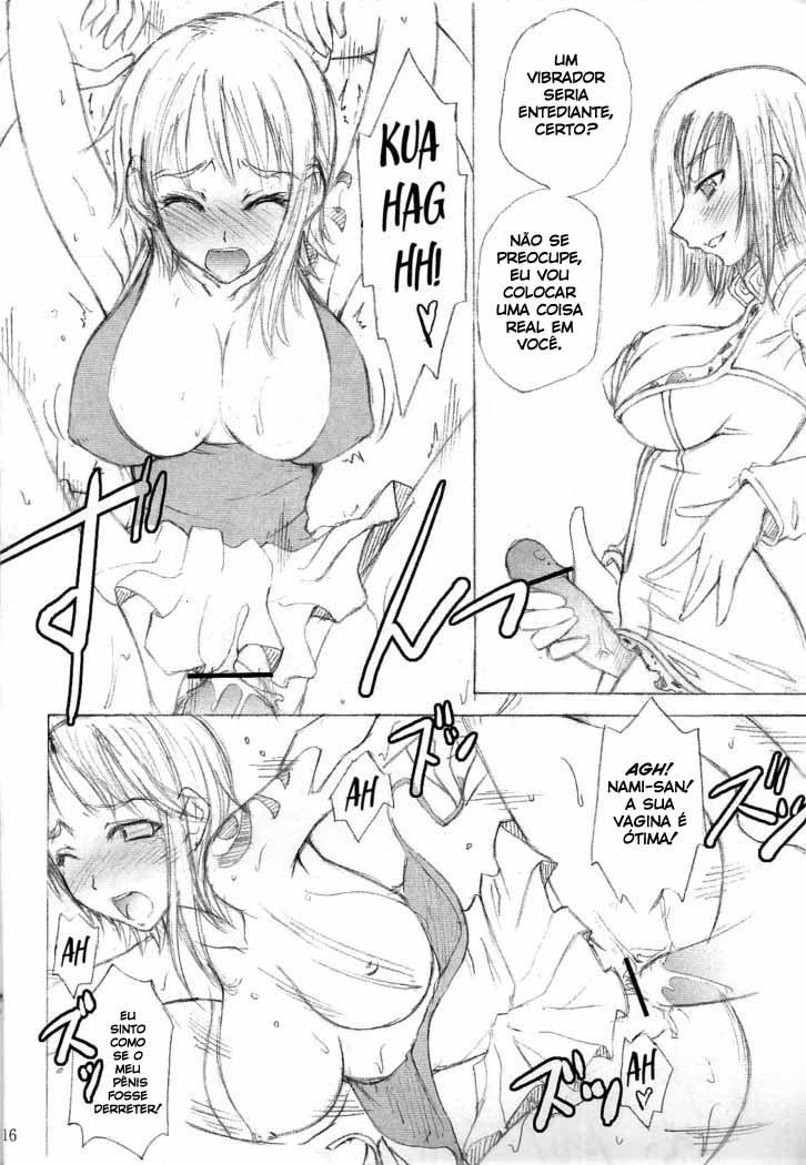 A erótica Nami se torna vadia da marinha