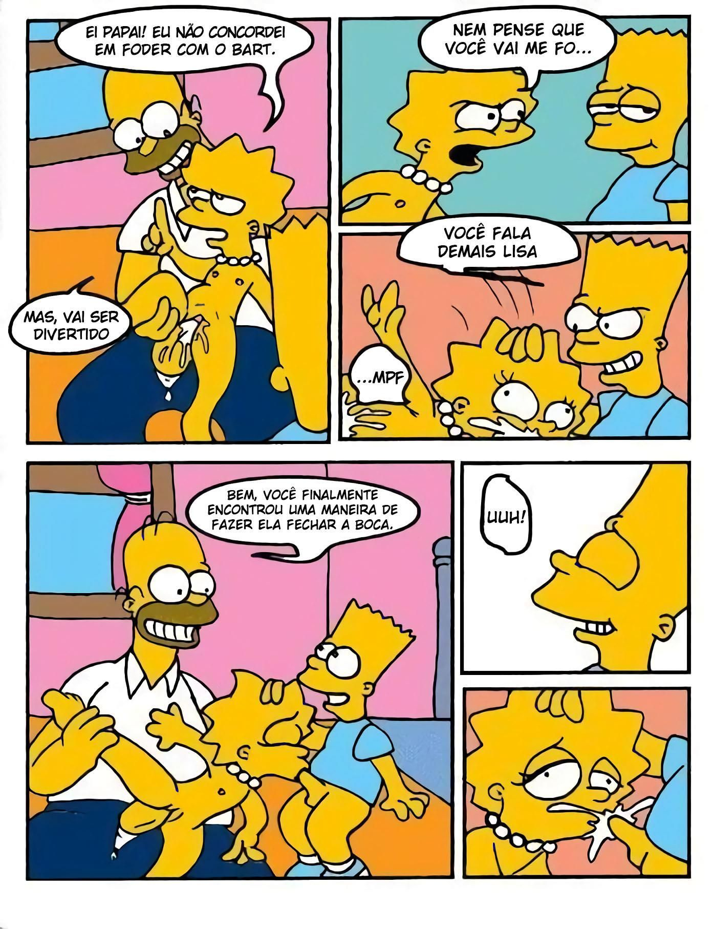 Simpsons Incesto: Empurrão do papai