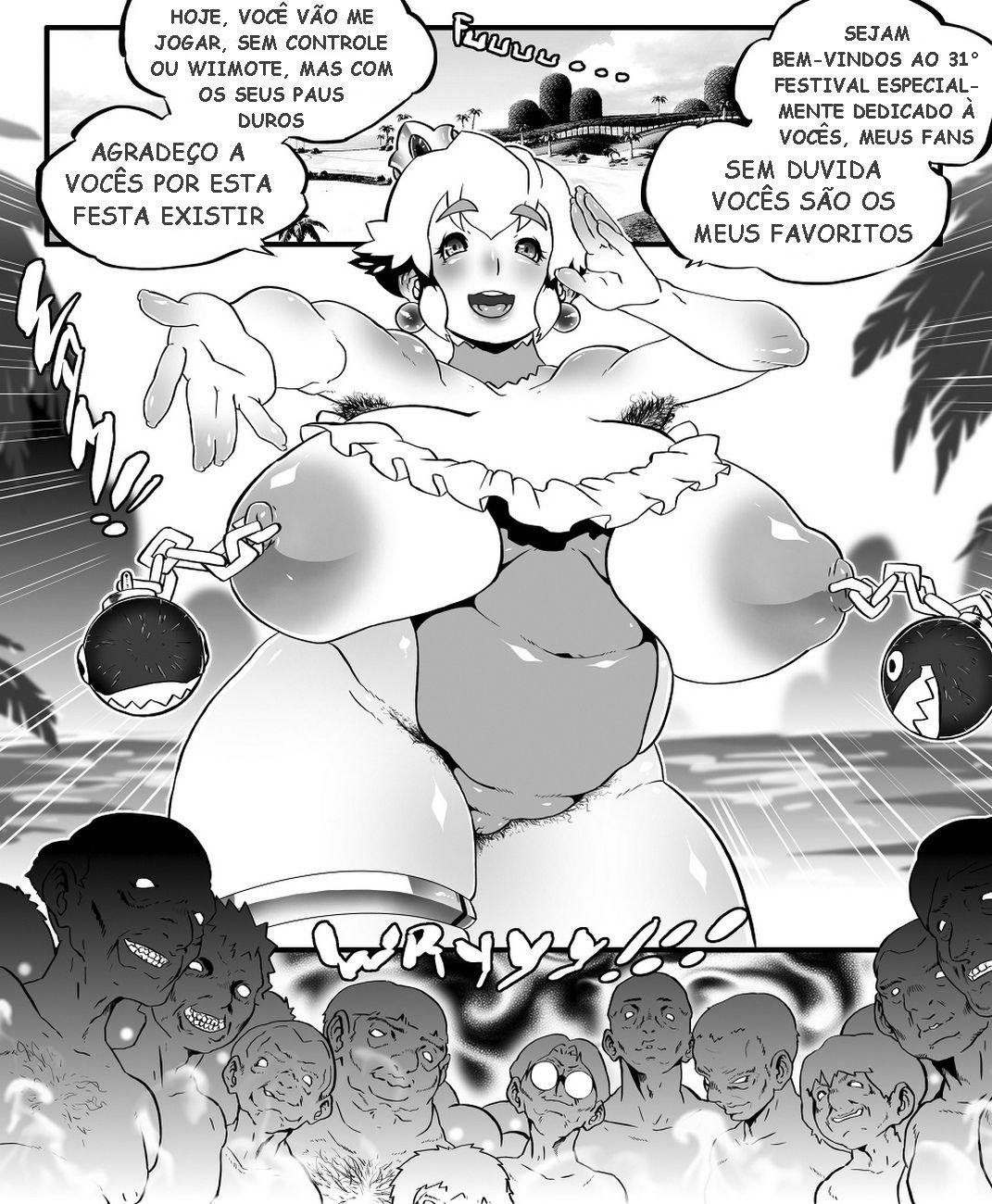 A princesa Peach dando o rabo real