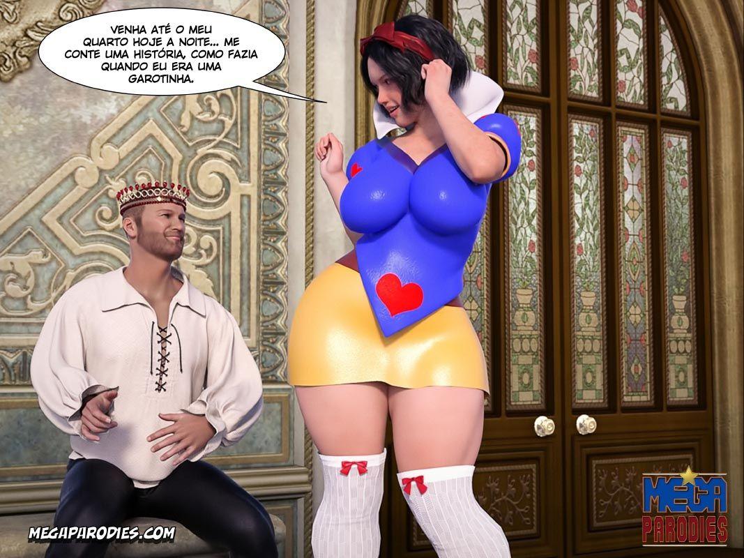 Branca de Neve Pornô: Quem é a mais puta do reino?
