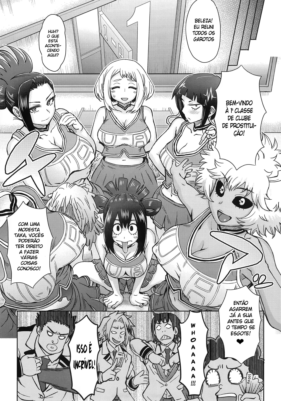 Uraraka à prostituta de Boku no Hero Academia