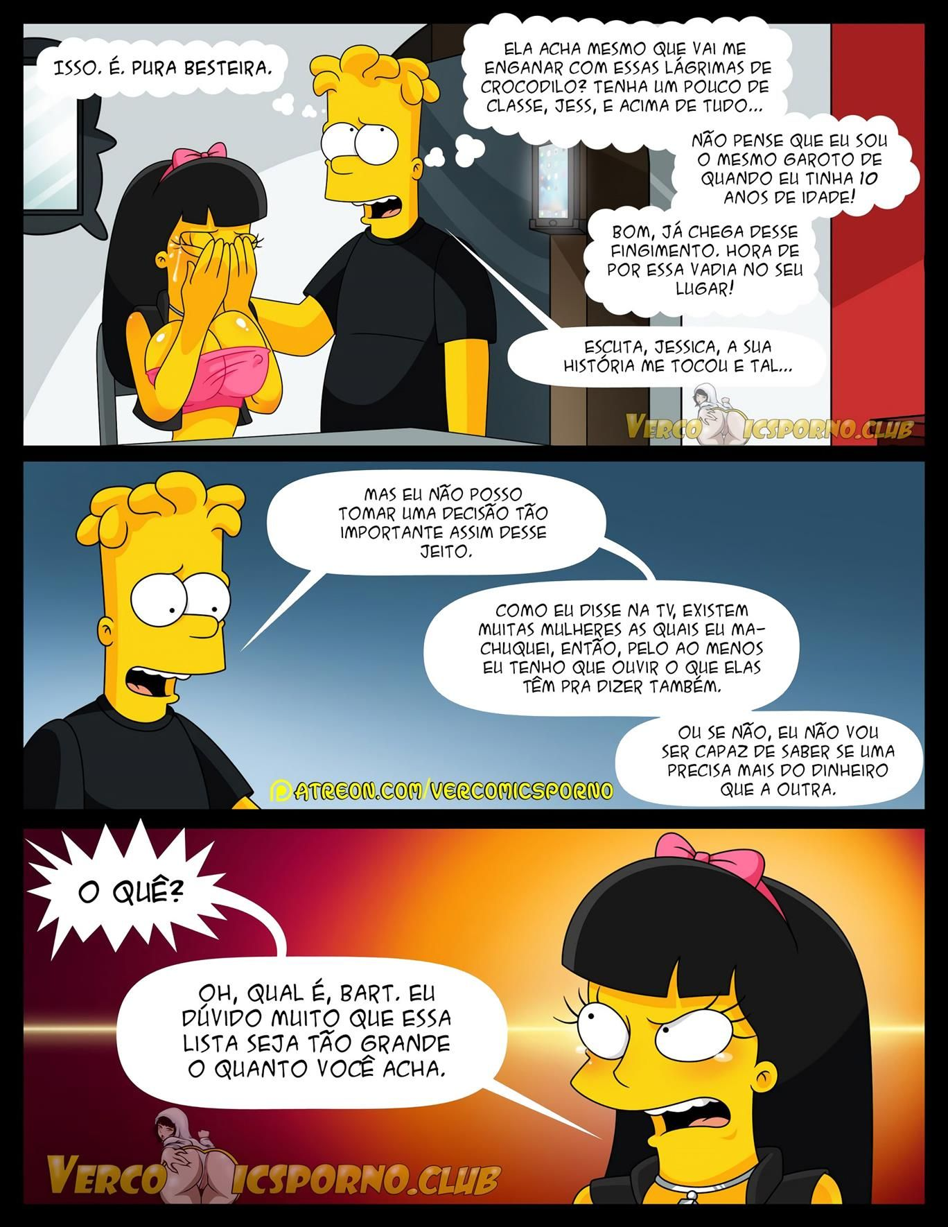 Simpsons Pornô: Não há sexo sem Ex