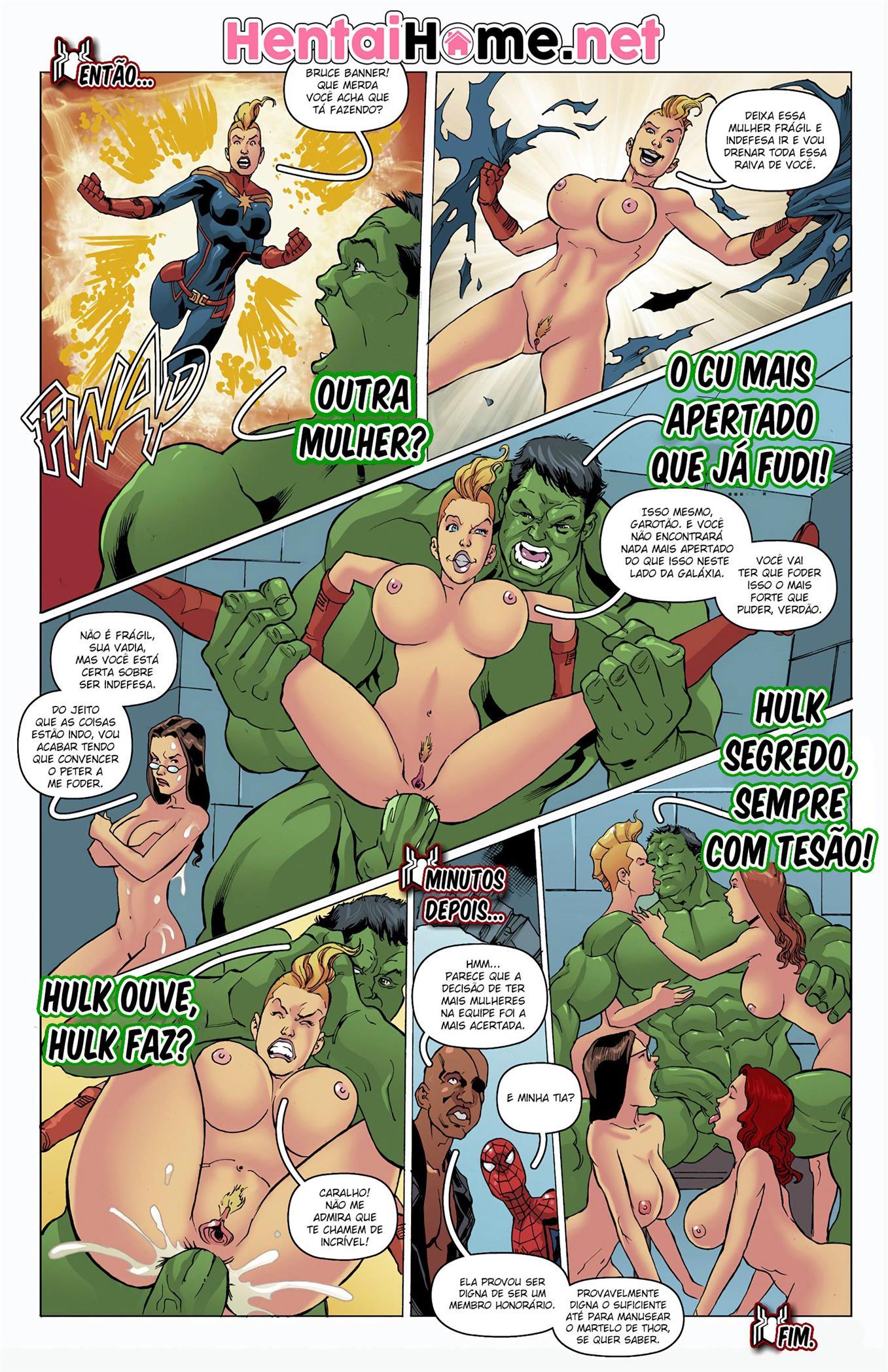 Hulk cheira buceta