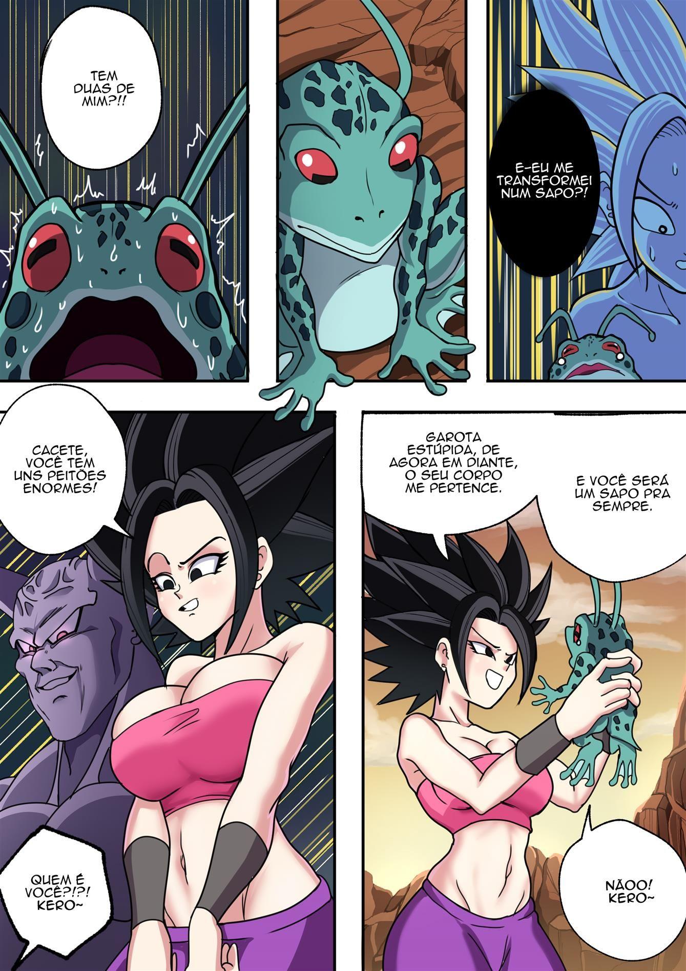 Mudança de corpo em Dragon ball pornô