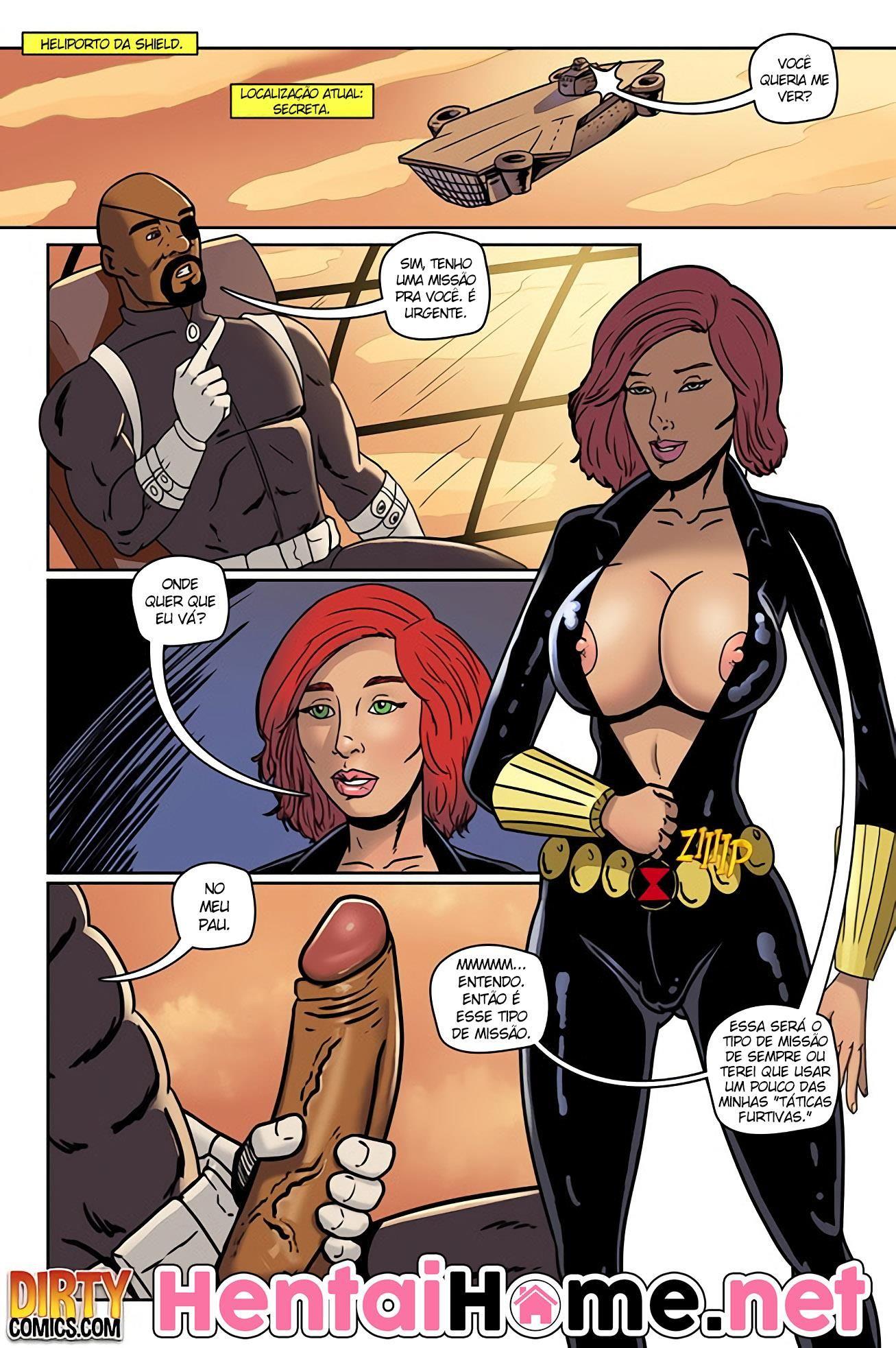 Missão secreta anal da Viúva Negra