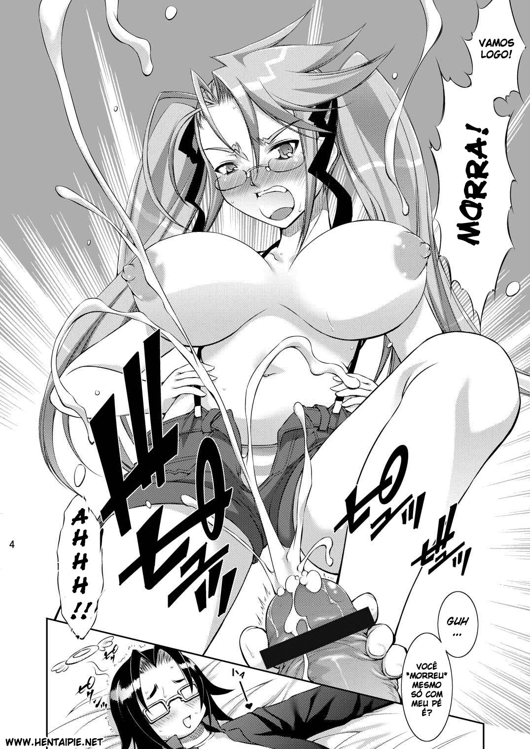 Highschool of the Dead Hentai: O harém de Takashi
