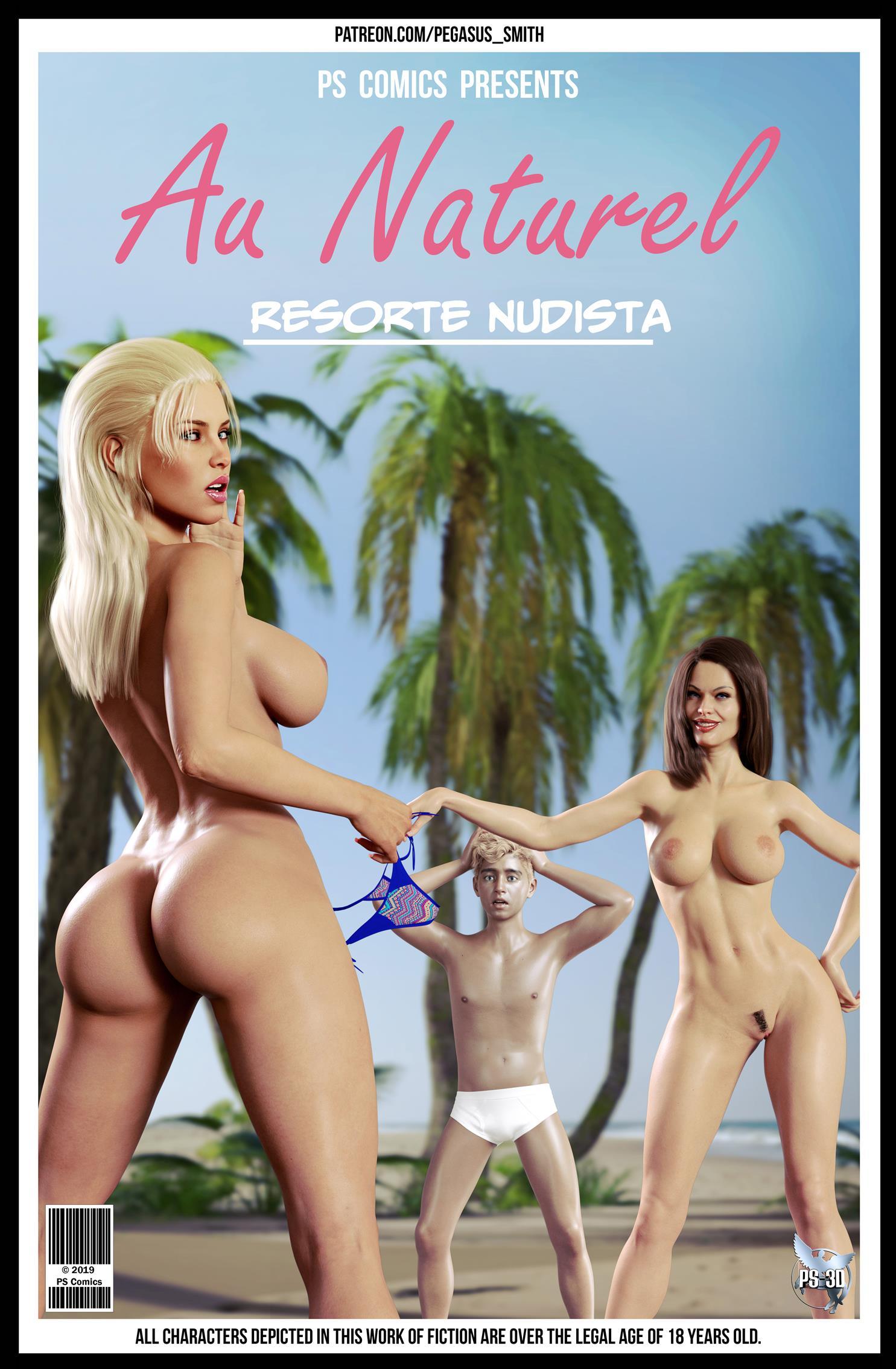 Resorte nudista ao natural