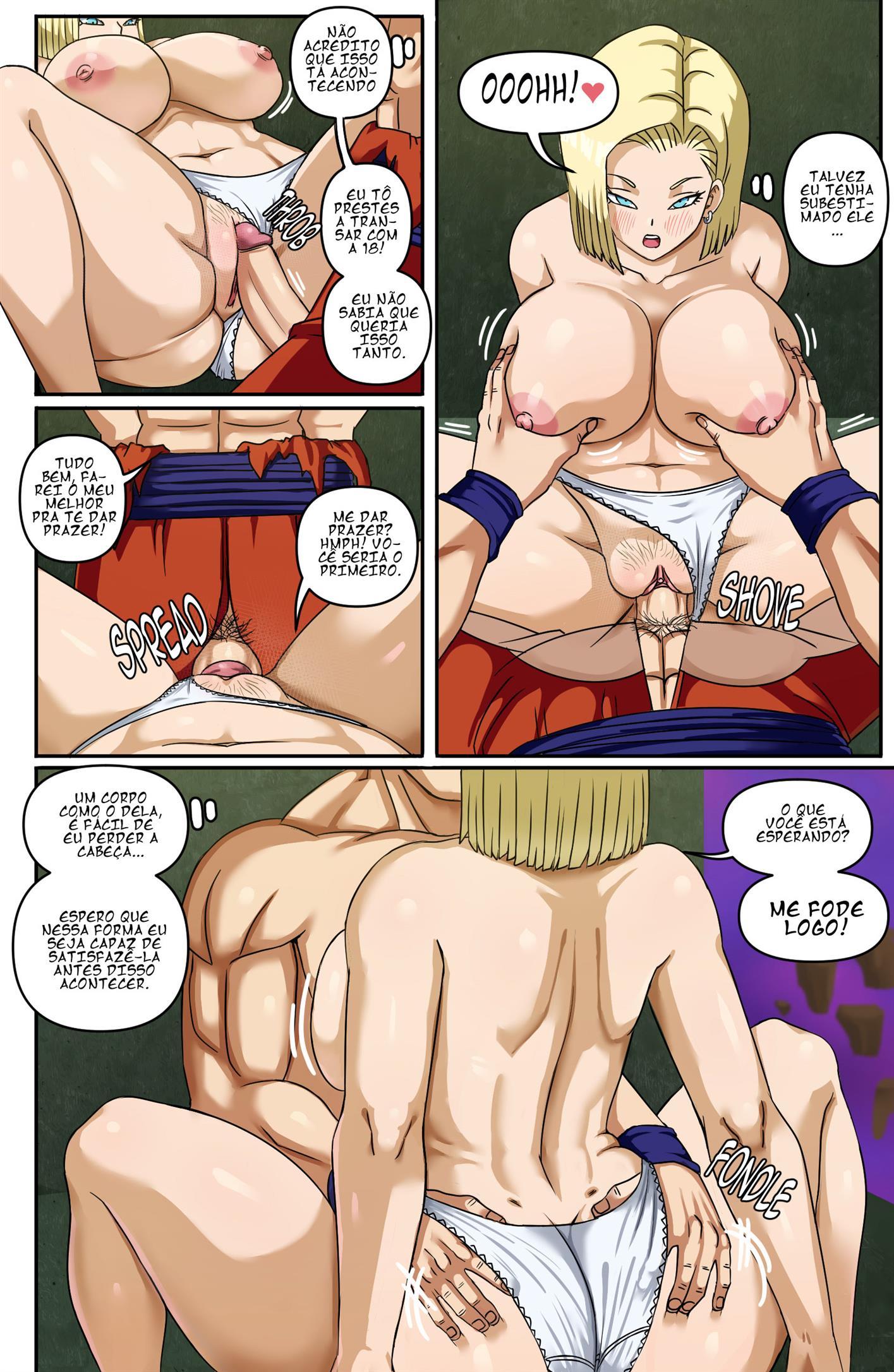 Número 18 ataca o virgem do Gohan 02